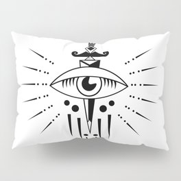 Mortally Aware [White] Pillow Sham