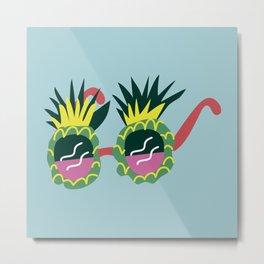 Pineapple Sunnies Metal Print