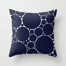 Floating Dots Throw Pillow