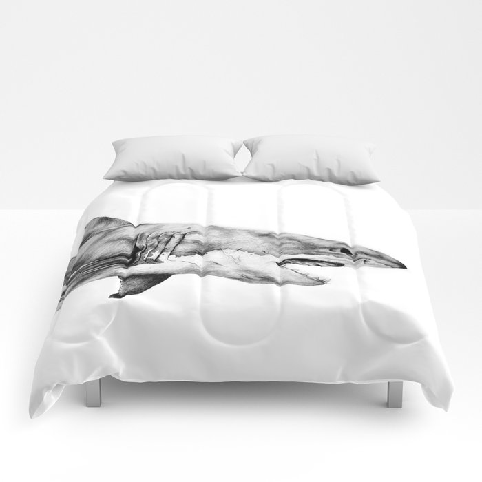 Great White Shark Comforters by yaninruibal | Society6
