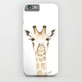 Baby Giraffe Illustration iPhone Case