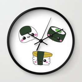 Vampire Sushi Rolls Wall Clock
