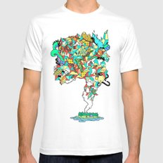 Thick Lucidity MEDIUM White Mens Fitted Tee
