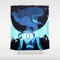 gem Shower Curtains featuring Ocean Gem by Abby Mitchell