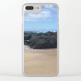 Rocky Ocean Clear iPhone Case