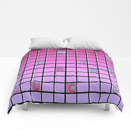nope pink Comforters