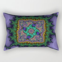 Fractal Rug Rectangular Pillow