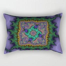 Fractal Rug Rectangular Pillow