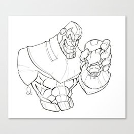 Mad Titan & Iron Head Canvas Print