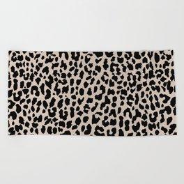Tan Leopard Beach Towel