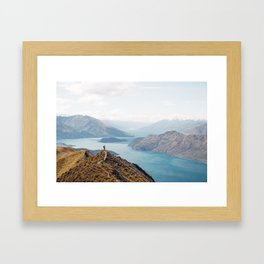 The top of Roys Peak Framed Art Print