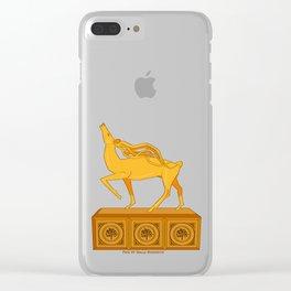 Halla statuette gold Clear iPhone Case