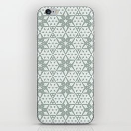 Stars and Hexagons Pattern - Ancient Stone iPhone Skin