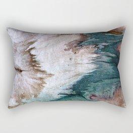 Napping on the beach Rectangular Pillow