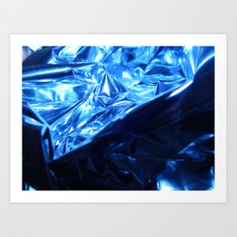 This Cold Elegance in Chrome Folds  Art Print
