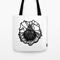 third eye Tote Bags featuring Third Eye by Cecile Psicheer