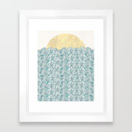 Sunny Tribal Seas Framed Art Print