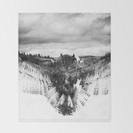 Owl Mid Flight Throw Blanket