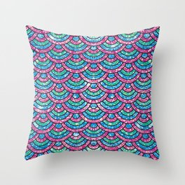 Glitter mermaid scales Throw Pillow