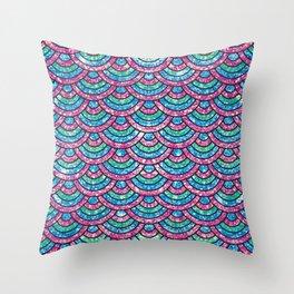 Glitter mermaid scales Throw Pillow