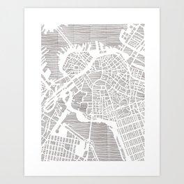 boston city print Art Print