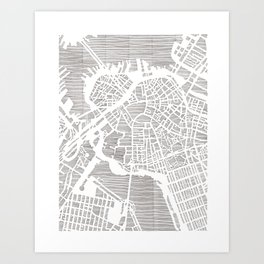 boston city print Art Print