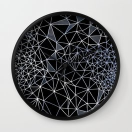 Organometric Primes 1.Black  #decor #geometric Wall Clock