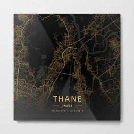 Thane, India - Gold Metal Print