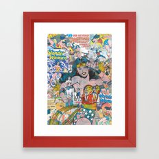 Vintage Comic WonderWoman Framed Art Print