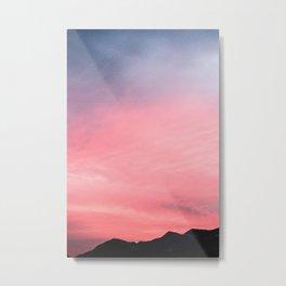 Salmon Skies Metal Print