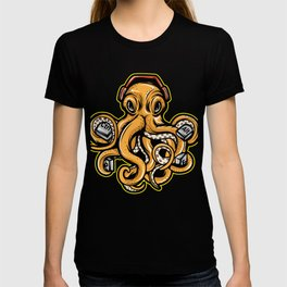 Looking For A Unique Octopus Computer T-shirt ? An Octopus T-shirt With Ctrl Control Alat Heaphones T-shirt