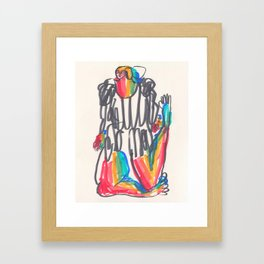 Half As Long, Twice As Bright Framed Art Print