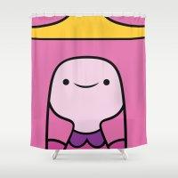 princess bubblegum Shower Curtains featuring Princess Bubblegum by OverClocked