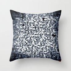 Skull Sketch Pattern Throw Pillow