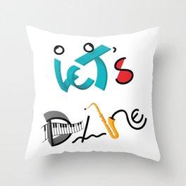 Type Let's Dance Throw Pillow