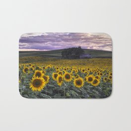 Summertime Sunflowers Bath Mat