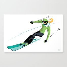 Ski Girl Slalom Canvas Print