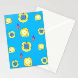 yellow substances in a blue matter Stationery Cards