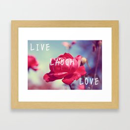 Pink Live, Laugh, and, Love Framed Art Print