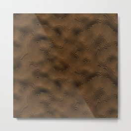 Desert Topographic Landscape Metal Print