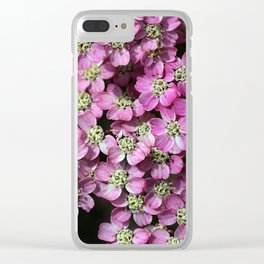 Pink Yarrow Flowers Clear iPhone Case