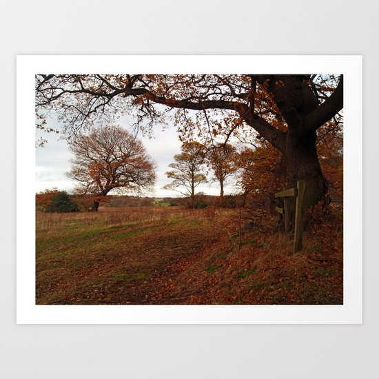 Adel Autumn Art Print