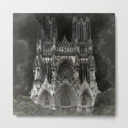 Cathedral Black Metal Print