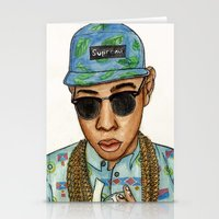 tyler the creator Stationery Cards featuring Tyler, The Creator by Daniel Cash