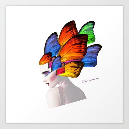 portrait, butterfly  Art Print