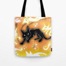 Feline Fire Tote Bag