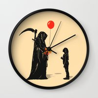 gift card Wall Clocks featuring Gift by nicebleed