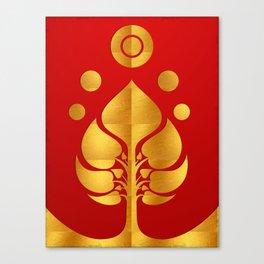 Bodhi Tree0301_GoldenDAY Canvas Print