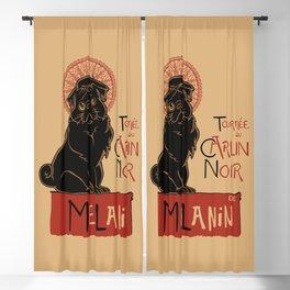 Le Carlin Noir (The Black Pug) Blackout Curtain