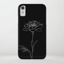 Rose line drawing - Lorna Black iPhone Case